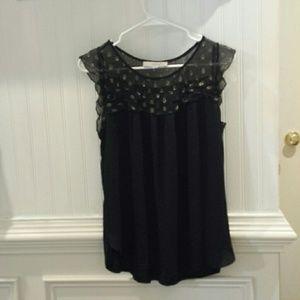 Women's Loft Black Blouse